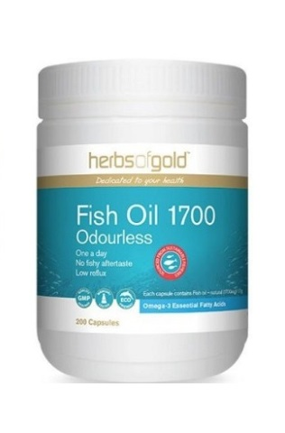 Herbs of Gold Fish Oil 1700 200 caps